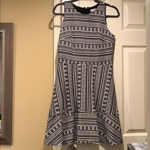 Loft black and white dress